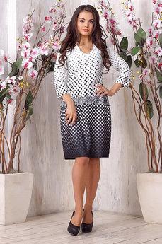 Платье в черно-белый горошек Liora