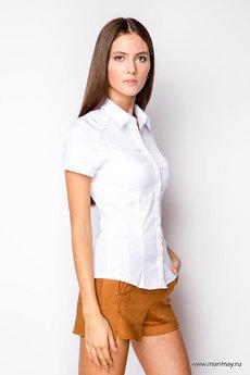 Белая блузка с коротким рукавом Marimay