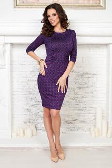 Фиолетовое платье футляр Angela Ricci