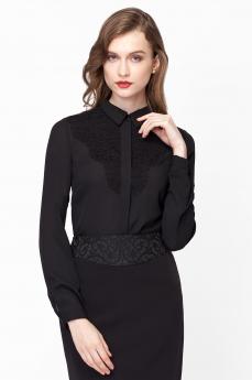 Черная блузка с длинными рукавами Vilatte
