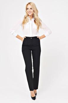 Женские черные брюки прямого кроя Angela Ricci