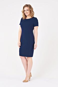 Темно-синее платье-футляр Paola Rossi