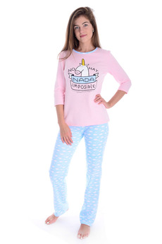 Пижама с начесом Единорог Malina