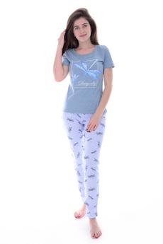 Новинка: голубая пижама со стрекозами Malina